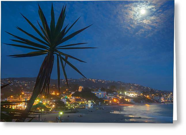 Ocean Shore Greeting Cards - Moonrise Greeting Card by Cliff Wassmann