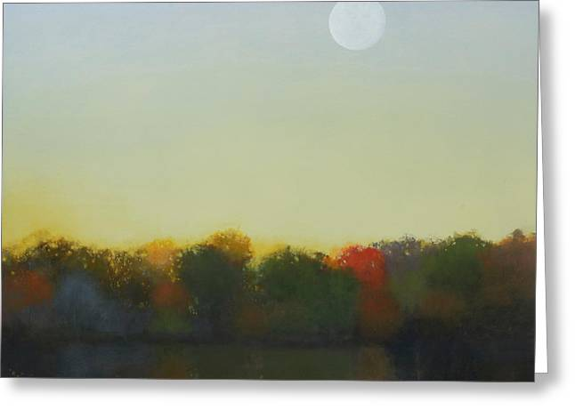 Moonrise, Footbridge At White Rock Greeting Card by Cap Pannell
