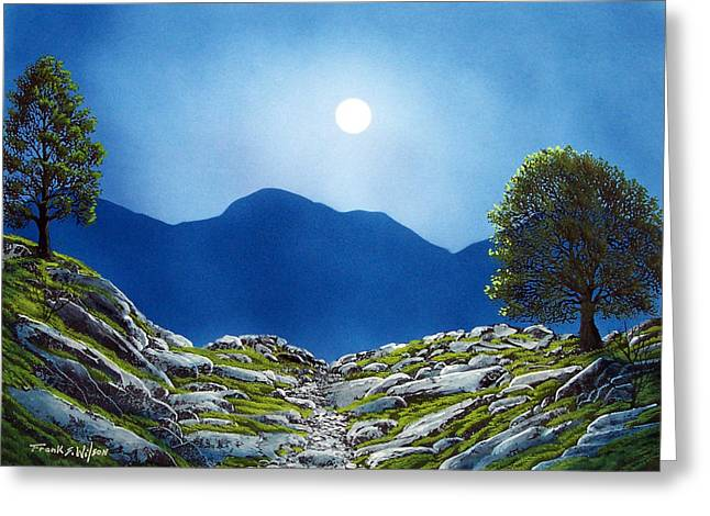Moonrise Greeting Card by Frank Wilson