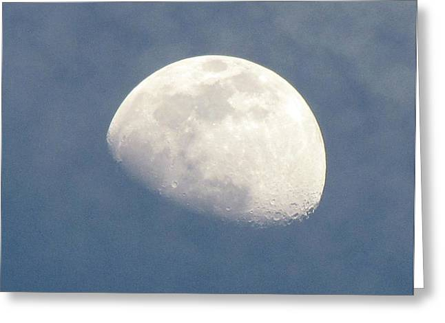 Man In The Moon Greeting Cards - Moonrise Greeting Card by Helaine Cummins