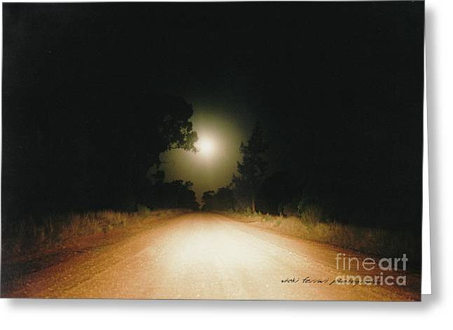 New Thoughts Greeting Cards - Moonrise On Melrose Greeting Card by Vicki Ferrari