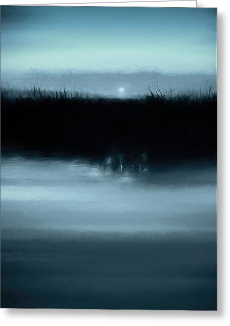 Moonrise On The Water Greeting Card by Scott Norris