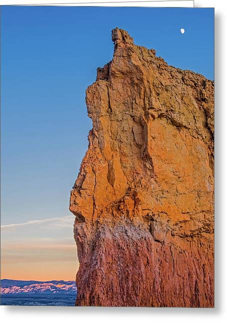 Moonrise Over Bryce Canyon Greeting Card by Duane Miller