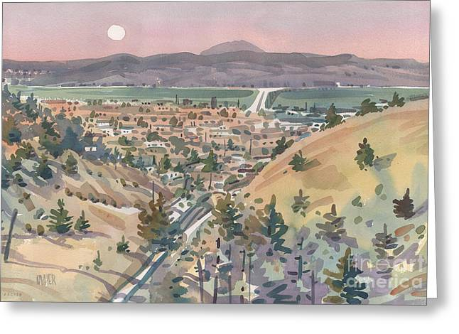 Moonrise Greeting Cards - Moonrise Over San Mateo Greeting Card by Donald Maier