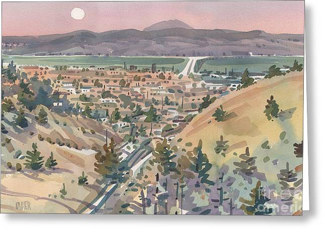 Moonrise Over San Mateo Greeting Card by Donald Maier