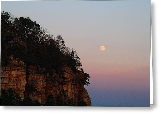 Moonrise Greeting Cards - Moonrise Over the Mountain Greeting Card by Kathryn Meyer
