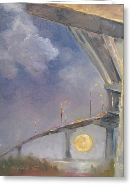 Moonrise Greeting Cards - Moonrise Greeting Card by Susan Richardson