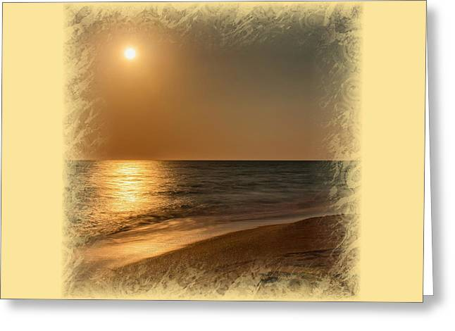 Ocean. Reflection Greeting Cards - Moonscape 2 Greeting Card by John Bailey