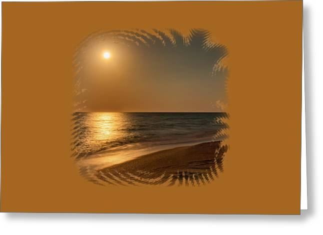 Ocean. Reflection Greeting Cards - Moonscape 3 Greeting Card by John Bailey