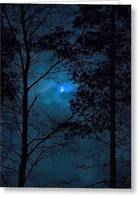 False-colour Greeting Cards - Moonshine 10 Blue sky Greeting Card by Jouko Lehto