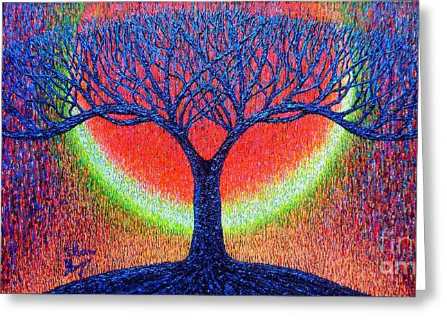 Tree Roots Greeting Cards - moonshine-2/God-is light/ Greeting Card by Viktor Lazarev