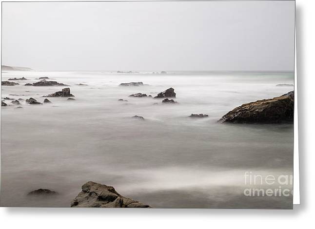 Cambria Greeting Cards - Moonstone Beach B3716 Greeting Card by Stephen Parker