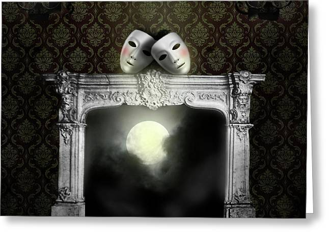Moonstruck Greeting Card by Larry Butterworth
