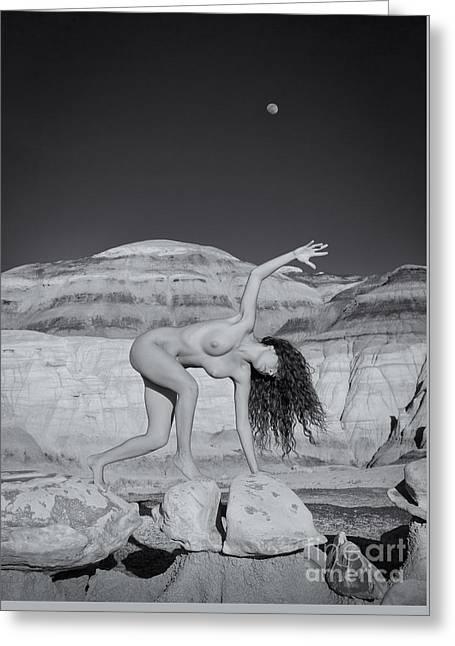 Moonwalk Greeting Card by Inge Johnsson