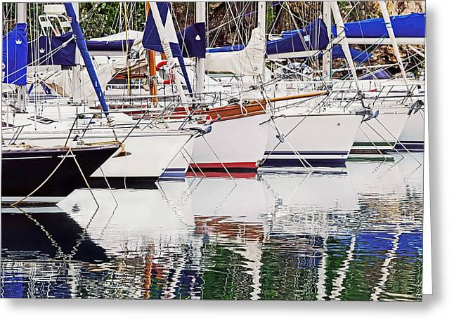 Masts Greeting Cards - Moored In Monte Carlo Greeting Card by Keith Armstrong