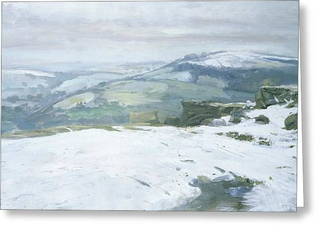 Midwinter Greeting Cards - Moorland Greeting Card by Charles Hardaker