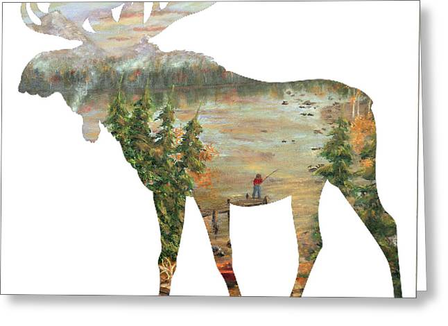 Moose Lake Retreat Greeting Card by Ken Figurski