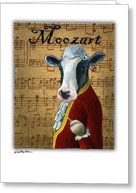 Moozart... Greeting Card by Will Bullas