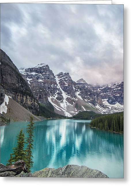Moraine In The Summer Greeting Card by Jon Glaser