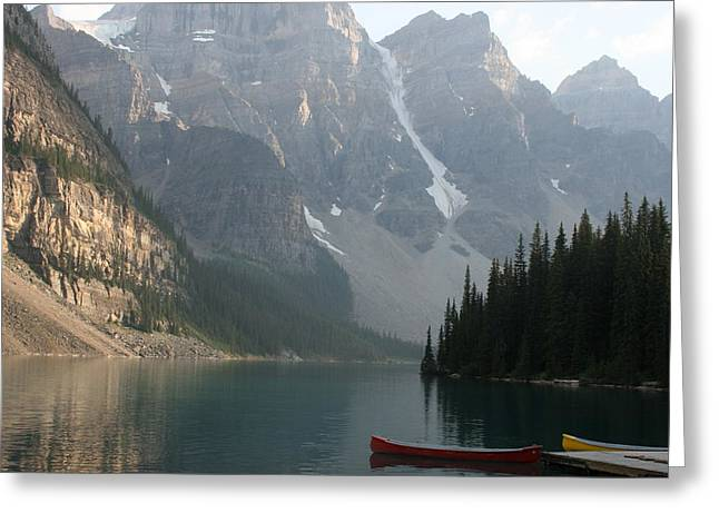 Fed Greeting Cards - Moraine Lake 2 Greeting Card by Betty-Anne McDonald