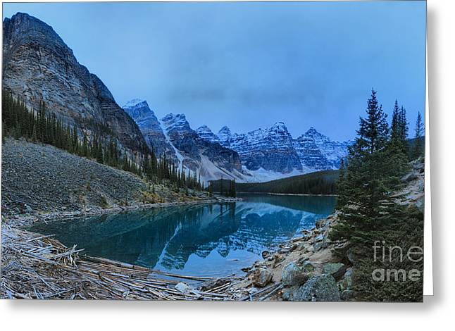 Mountain Valley Greeting Cards - Moraine Lake Banff National Park Greeting Card by Adam Jewell