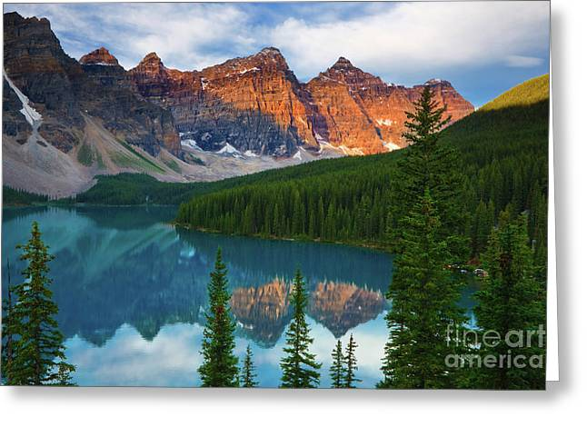 Moraine Lake - Canada Greeting Card by Henk Meijer Photography