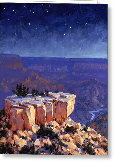 Night Scenes Greeting Cards - Moran Nocturne Greeting Card by Cody DeLong