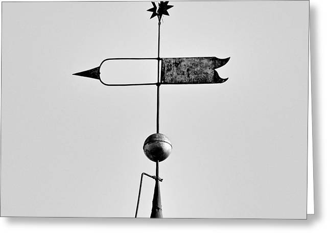 Moravian Greeting Cards - Moravian Star Weathervane Greeting Card by Patrick M Lynch