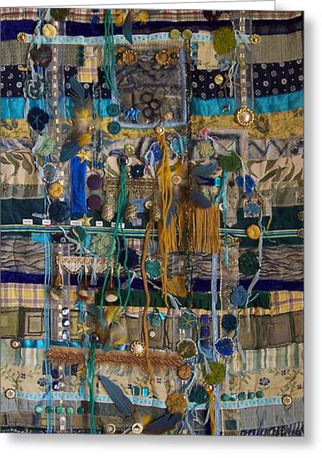 Sizes Tapestries - Textiles Greeting Cards - More can Make me Happy Greeting Card by Sue Gilliam