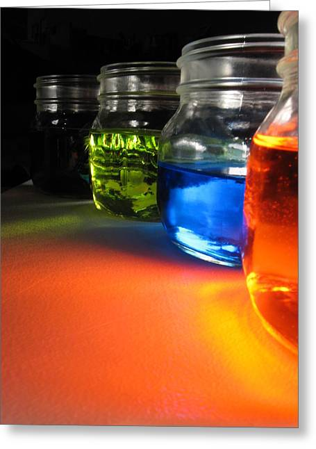 Water Jars Greeting Cards - More jars Greeting Card by Kim Pascu