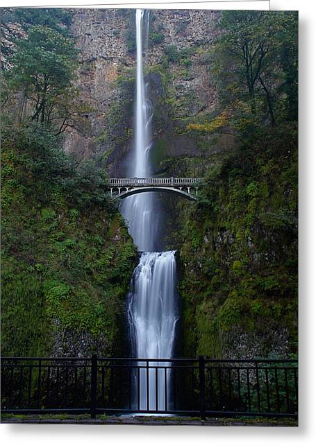 Hiking Greeting Cards - More Multnomah Falls Greeting Card by Todd Kreuter