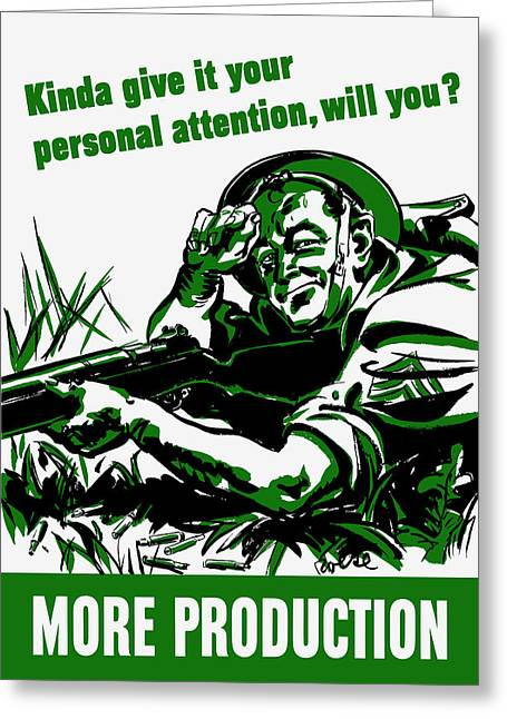 Allied Greeting Cards - More Production -- WW2 Propaganda Greeting Card by War Is Hell Store
