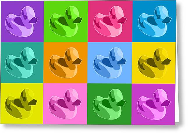 Warhol Art Greeting Cards - More Rubber Ducks Greeting Card by Michael Tompsett