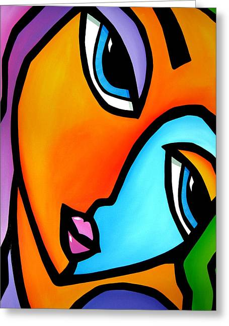 More Than Enough - Abstract Pop Art By Fidostudio Greeting Card by Tom Fedro - Fidostudio