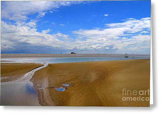 Tidal Photographs Greeting Cards - Morecambe Bay Cumbria Greeting Card by Louise Heusinkveld