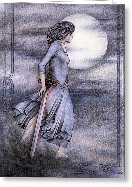 Morgan Le Fay Greeting Card by Johanna Pieterman