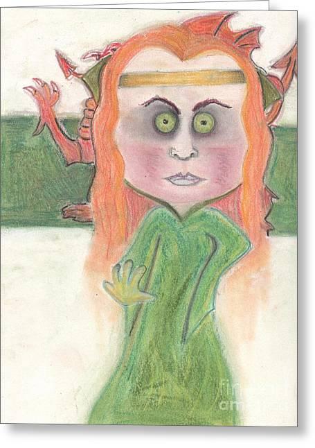 Mythology Pastels Greeting Cards - Morgan Le Fey Greeting Card by Regina Jeffers