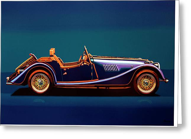 Morgan Roadster 2004 Painting Greeting Card by Paul Meijering