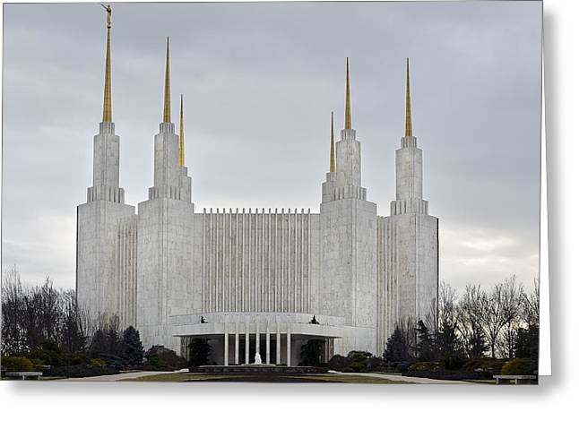 Washington D.c. Greeting Cards - Mormon Temple - Kensington Maryland Greeting Card by Brendan Reals