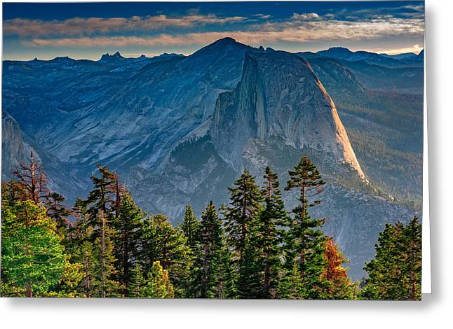 Monoliths Greeting Cards - Morning At Half Dome Greeting Card by Rick Berk