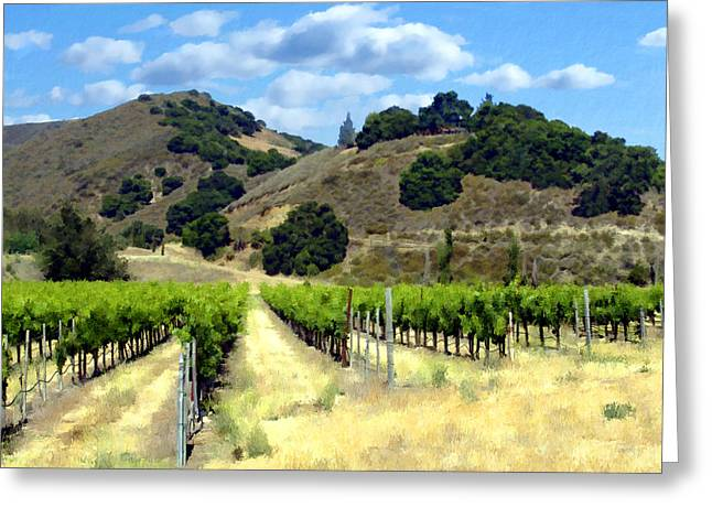 Vineyard Landscape Greeting Cards - Morning at Mosby Vineyards Greeting Card by Kurt Van Wagner
