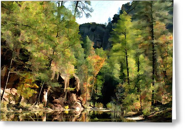 Morning at Oak Creek Arizona Greeting Card by Kurt Van Wagner