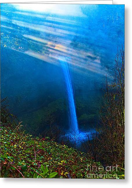 Canoe Waterfall Photographs Greeting Cards - Morning at South Falls Greeting Card by Jon Burch Photography
