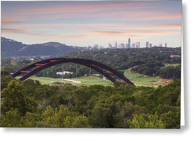 Austin Landmarks Greeting Cards - Morning at the 360 Bridge near Austin Texas 1 Greeting Card by Rob Greebon