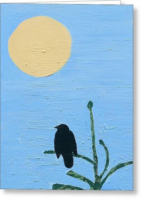 Fir Trees Greeting Cards - Morning Bird Greeting Card by Alexandra Schaefers