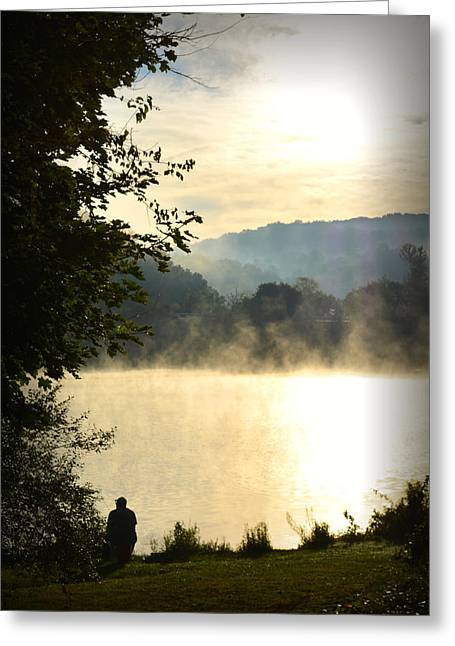 Fishing Boats Greeting Cards - Morning Catch Greeting Card by Gary Conner
