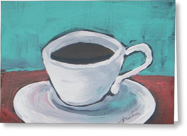 Morning Coffee Greeting Card by Vesna Antic