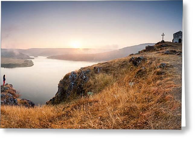Crucifix Greeting Cards - Morning Dream Greeting Card by Evgeni Dinev
