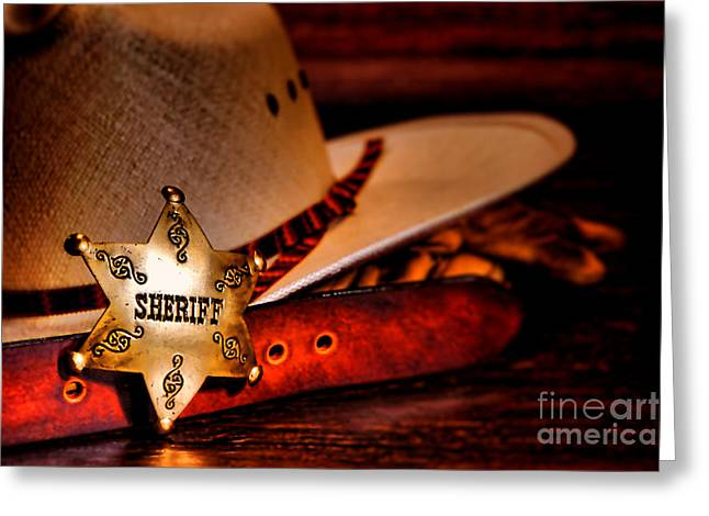 Cowboy Outfit Greeting Cards - Morning Duty Greeting Card by Olivier Le Queinec