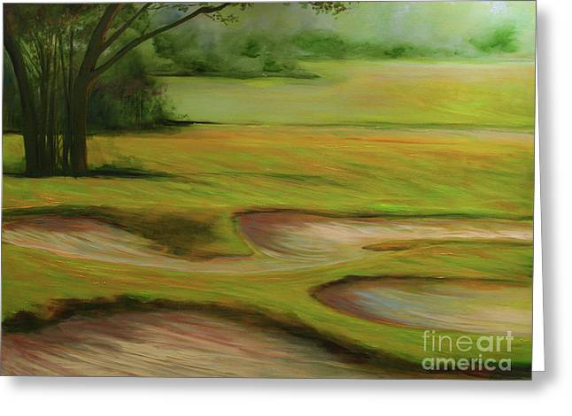 Morning Fairway Greeting Card by Michele Hollister - for Nancy Asbell